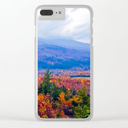 Brilliant Fall Colors at Ira Mountain in Kingfield, Maine (2) Clear iPhone Case