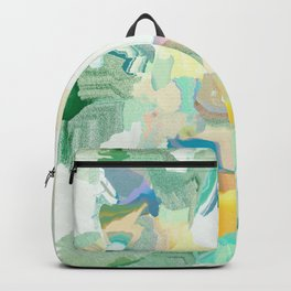 sage glitch marble Backpack