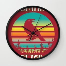 Crow Sunset Symbols Death Today Gift Wall Clock