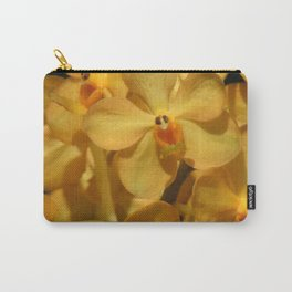 Golden Vanda Orchids Carry-All Pouch