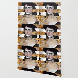 Klimt's Portrait & Anna Magnani Wallpaper