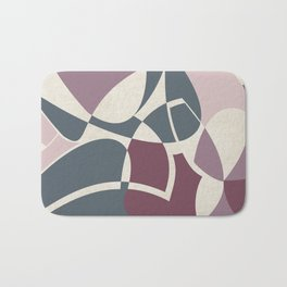 Archivo - Abstract Design in Mulberry, Mauve, Shell Pink and Blue Bath Mat