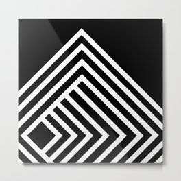 Tremendous Stripe-White&Black Metal Print