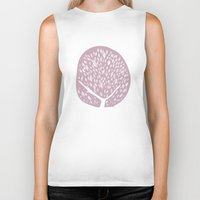 tree of life Biker Tanks featuring Tree of life - lilac by Seven Roses