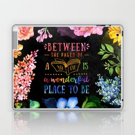 Between the pages - black Laptop & iPad Skin