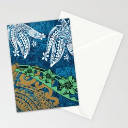 Polynesian - Samoan - Blue Hawaii Tribal Threads Print Stationery Cards