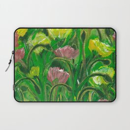 Poppies in the field Laptop Sleeve