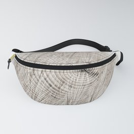 Wood tree rings photo of cut ash tree slice Fanny Pack