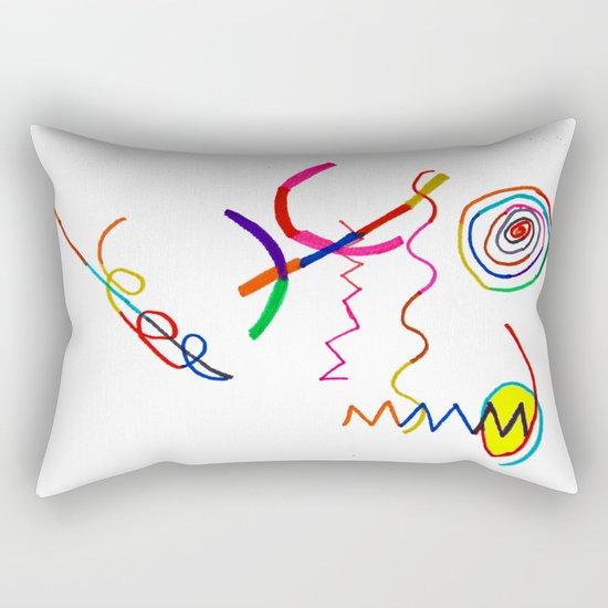 Funky Way Doodle Rectangular Pillow