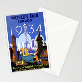 World's Fair Chicago 1934 - Vintage Poster Stationery Cards