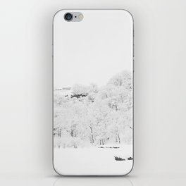 Winter Forest (Black and White) iPhone Skin
