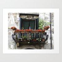 Balcony In Lucca - Tuscany Italy Art Print