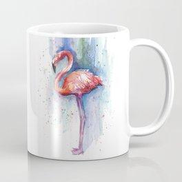 Pink Flamingo Watercolor Tropical Animals Birds Coffee Mug