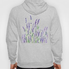 lavender watercolor horizontal Hoody
