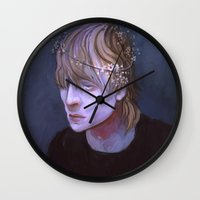 dragon age Wall Clocks featuring cole dragon age flowers by Professional Elf