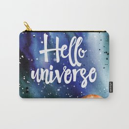 Space Neon Watercolor #10: Hello Universe Carry-All Pouch