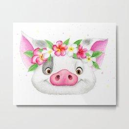 Exotic Pig Metal Print