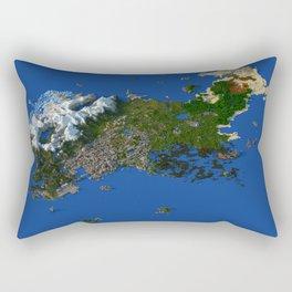 Voxel City Render - Incredibly Detailed Metropolis Rectangular Pillow