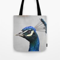 swedish Tote Bags featuring Swedish peacock by ilsephilips