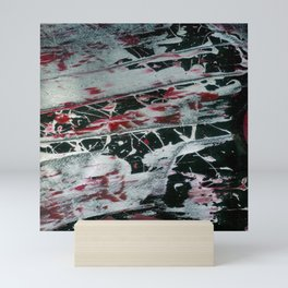 Black Pearl Abstract Ship At Night | Black and White Abstract | Corbin Henry Mini Art Print
