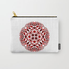 #5 Geometric Mosaic Mandala - Red Carry-All Pouch