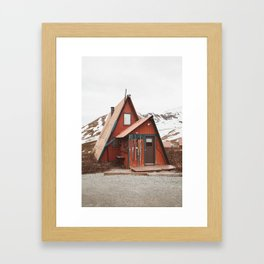 Red Cabin Framed Art Print