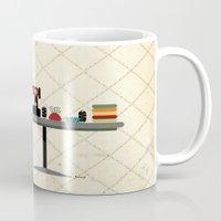 dress Mugs featuring DRESS MAKER by yael frankel