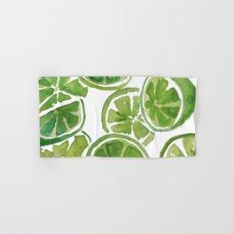 Watercolor LIMES Hand & Bath Towel