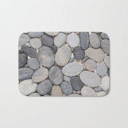 Smooth Grey Pebble Minimalistic Zen  Bath Mat