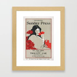 Poster Sunday Press All May Ride- George Reiter (new color rendition) Framed Art Print