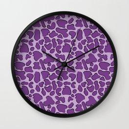 Leopard Purple Outline Wall Clock