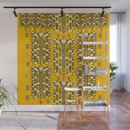 Rain showers in the rain forest of bloom and decorative liana Wall Mural