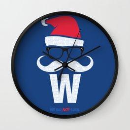 Fly the W Santa Wall Clock