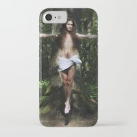 christ iPhone & iPod Cases featuring Jesus Christ by Marina Stelte