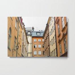 Gamla Stan Rooftops Metal Print