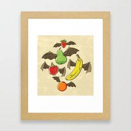 Fruit Bats Framed Art Print