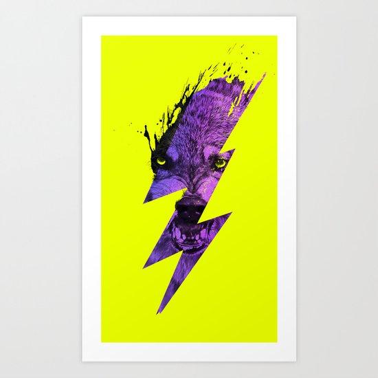Thunderwolf Art Print