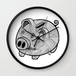 The pig Wall Clock