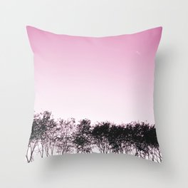 Lovely pink sky Throw Pillow