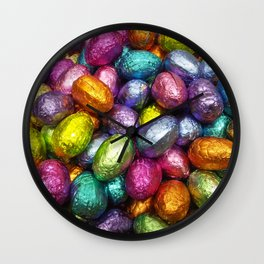 Chocolate Easter Eggs! Wall Clock