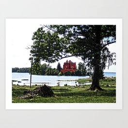 The castle on the island Art Print