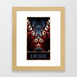 Erode (color)  Framed Art Print