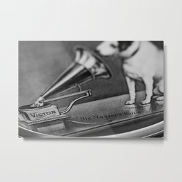 His Master's Voice - Nipper The Dog Metal Print