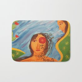 """""""Today you are Called Chicana"""" Bath Mat"""