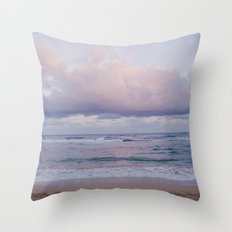 Pastel Beach - Kauai, Hawaii Throw Pillow