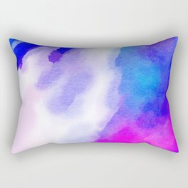Watercolor-blue,white and pink Rectangular Pillow
