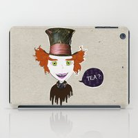 mad hatter iPad Cases featuring Mad Hatter by Lourenço Santos