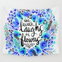 The Earth Laughs in Flowers – Turquoise & Blue by catcoq