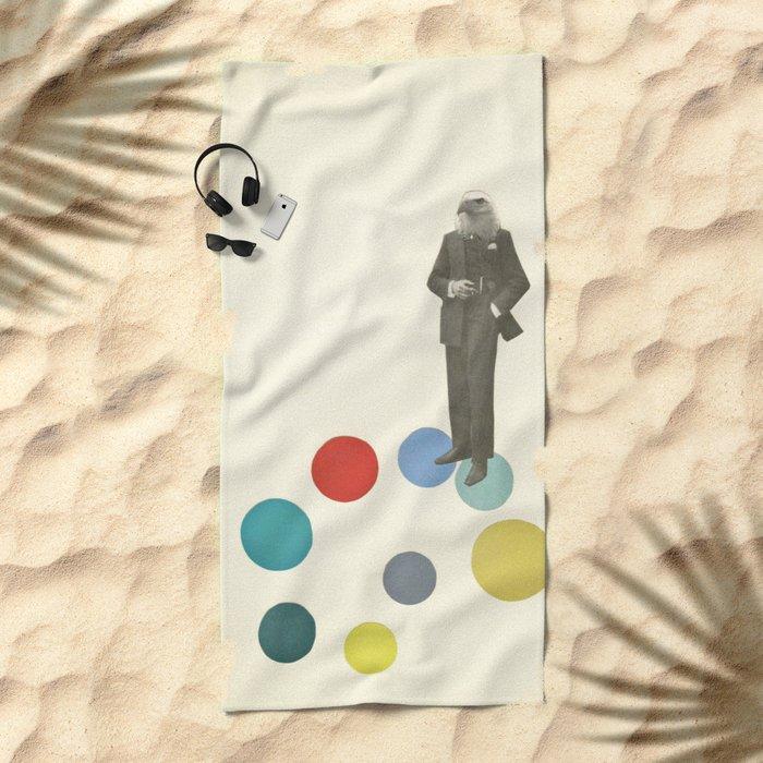Bird Man Beach Towel