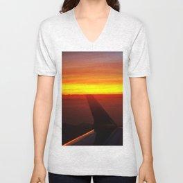 Sunset at 30,000 Feet Unisex V-Neck